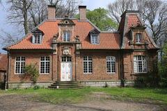 历史的豪宅萨森贝尔格在西华里亚,德国 库存照片