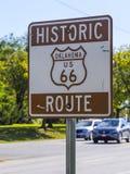 历史的路线66签到俄克拉何马-土尔沙-俄克拉何马- 2017年10月17日 库存照片