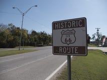 历史的路线66签到俄克拉何马-土尔沙-俄克拉何马- 2017年10月17日 免版税库存图片