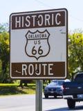 历史的路线66签到俄克拉何马-土尔沙-俄克拉何马- 2017年10月17日 免版税库存照片