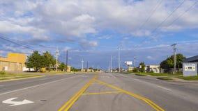 历史的路线66街道视图在土尔沙俄克拉何马-土尔沙-俄克拉何马- 2017年10月17日 库存照片