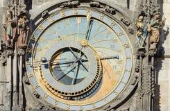 历史的钟表机构在布拉格 库存照片