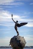 历史的铜雕塑,杰克逊维尔佛罗里达 免版税库存照片