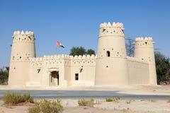 历史的阿拉伯堡垒在阿布扎比 库存照片