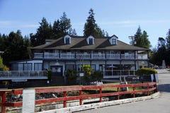 历史的隆德旅馆,隆德, BC 库存图片