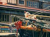 历史的风帆船 库存照片