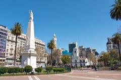 历史的香港大会堂(Cabildo),布宜诺斯艾利斯Argentinien 免版税图库摄影