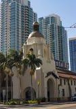 历史的驻地在圣地亚哥 免版税库存图片