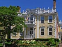 历史的18世纪豪宅 免版税库存照片