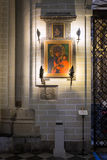 历史的绘画在大教堂Primada圣玛丽亚de托莱多里 免版税库存图片