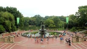 历史的贝塞斯达大阳台在中央公园 免版税库存图片