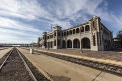 历史的巴斯托火车站南加州 库存图片