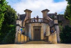 历史的结构在Boboli庭院里在佛罗伦萨,意大利 免版税图库摄影