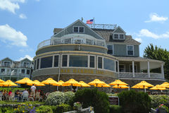 历史的巴港旅馆在巴港 免版税库存照片