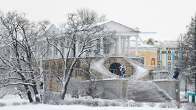 历史的建筑学在公园 免版税图库摄影