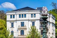 历史的建筑学在威斯巴登 免版税图库摄影