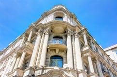 历史的建筑学在威斯巴登 免版税库存图片