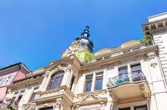 历史的建筑学在威斯巴登 免版税库存照片