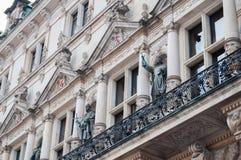 历史的建筑学,汉堡镇大厅 免版税库存照片
