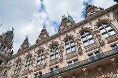 历史的建筑学,汉堡镇大厅 免版税库存图片