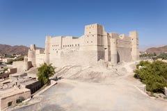 历史的巴赫莱要塞在阿曼 图库摄影