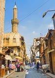 历史的邻里在开罗 免版税库存照片
