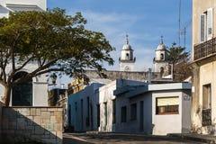 历史的邻里在科洛尼亚德尔萨克拉门托,乌拉圭 免版税库存照片