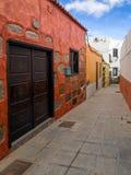 历史的Aguimes镇大加那利岛西班牙 免版税图库摄影