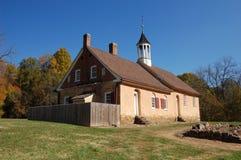历史的Bethabara教会 图库摄影