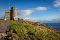 历史的Cabot塔,信号小山,纽芬兰与拉布拉多 免版税库存图片