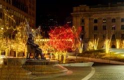 历史的Clevleland市长` s圣诞节 免版税库存图片