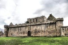 历史的Craigmillar城堡,爱丁堡,苏格兰 库存照片