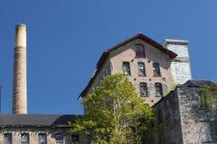 历史的Dart& x27; s石头磨房在洛克维尔,康涅狄格 免版税库存图片