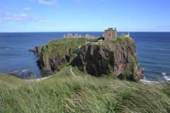 历史的Dunnottar城堡在苏格兰,大英国 库存图片