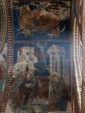 历史的Gelati修道院的美妙的被绘的内部在乔治亚 库存图片