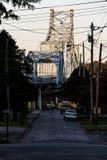 历史的Ironton罗素桥梁-俄亥俄河-罗素,肯塔基 库存照片