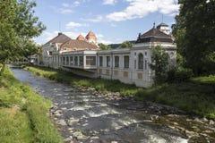历史的kurhaus坏Neuenahr阿尔魏勒县市德国 免版税库存照片