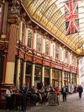 历史的Leadenhall市场在伦敦 库存照片