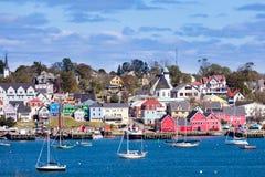 历史的Lunenburg港口新斯科舍NS加拿大 免版税库存图片