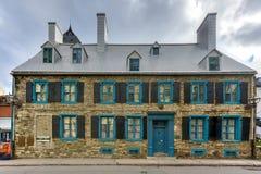 历史的Maillou家的魁北克,加拿大 免版税库存图片