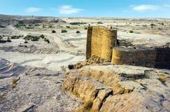 历史的Marib水坝 免版税库存照片