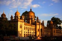历史的Nizamia医院在印度 免版税库存图片