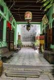 历史的Pinang Peranakan豪宅 免版税图库摄影