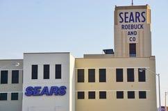 历史的Sears罗巴克大厦在Hackensack, NJ 免版税库存照片