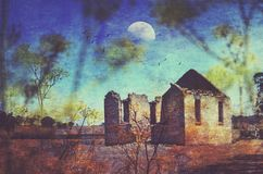 历史的St Marys教会废墟 图库摄影