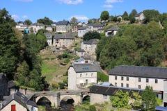 历史的Treignac在Corrèze,法国 免版税图库摄影