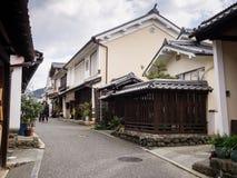 历史的Uchiko镇看法在爱媛县,日本 图库摄影