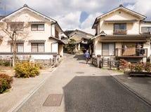 历史的Uchiko镇看法在爱媛县,日本 免版税库存照片