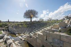 历史站点在Teos 免版税库存照片