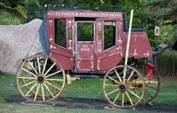 历史美国邮件马车 免版税图库摄影